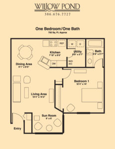 Apartment Layout 1 Bed/1 Bath