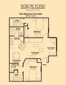 Apartment Layout 2 Bed/2 Bath