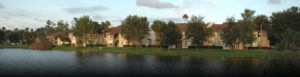 Apartments on pond