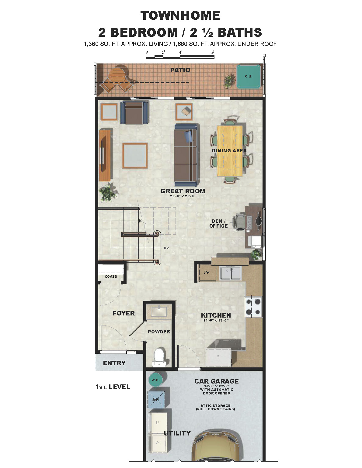 First Level Townhome Plan