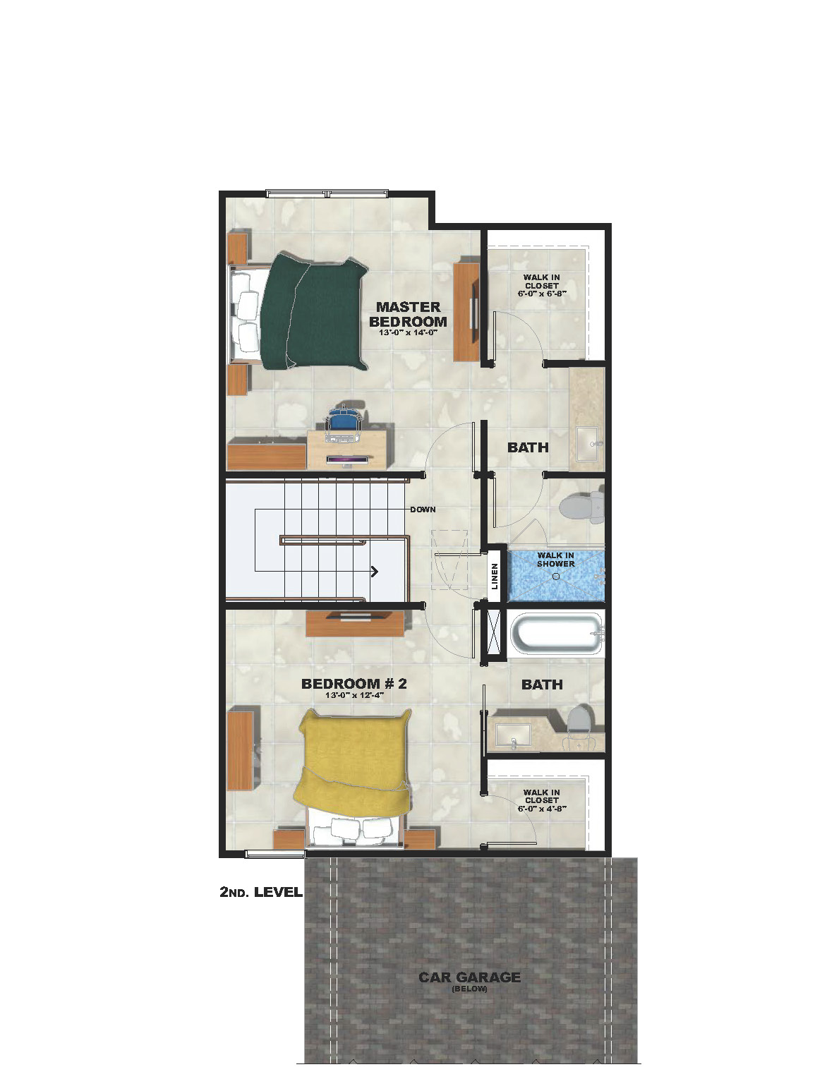 Second Level Townhome Plan